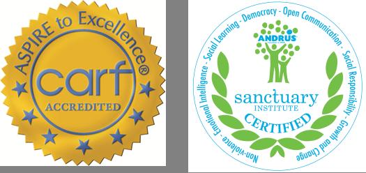 CARF and Sanctuary Logos