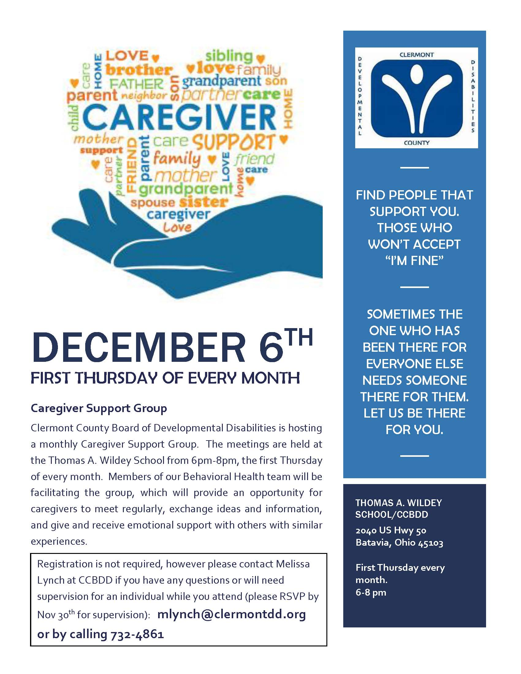 December Caregiver Support Group